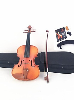 Dumb Light Maple Tiger Stripes ZaoMu Accessories On The Violin+Shoulder  + Strings+ Tuner+  Mute + Rosin+  Bow + Box