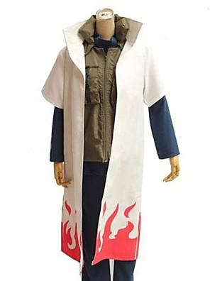קיבל השראה מ Naruto קוספליי אנימה תחפושות קוספליי חליפות קוספליי טלאים לבן חצי שרוול גלימה