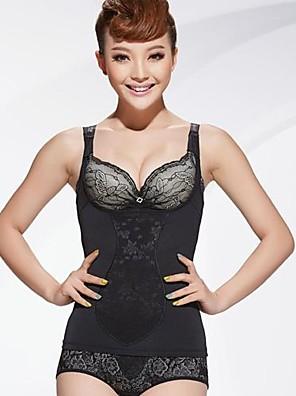 corpo firme de alta qualidade sem costura e modelagem colete corset em forma de cor preta tamanho XXL