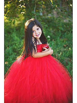 A-line Floor-length Flower Girl Dress Sleeveless Straps with