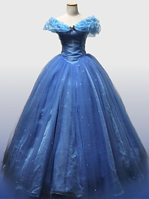 Cinderella Movie Version Deluxe Prom Dress Cosplay Costume