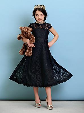 Lanting Bride® באורך הקרסול תחרה שמלה לשושבינות הצעירות  גזרת A / נסיכה עם תכשיטים עם