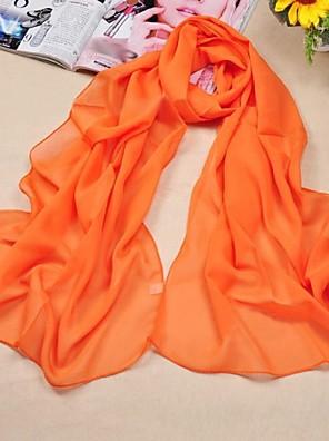 Sjalar ( Svart/Vit/Fuchsia/Orange/Royal Blå/Gul/Röd ) - i Chiffong/Polyester