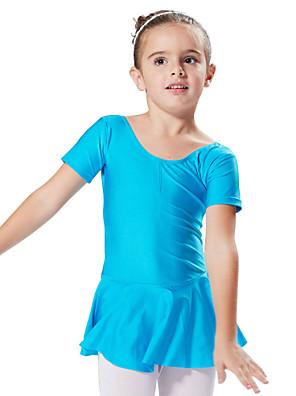 Balé Vestidos e Saias / Tutos e Saias / Vestidos Crianças Actuação / Treino Elastano 1 Peça Manga Curta Princesa Vestidos