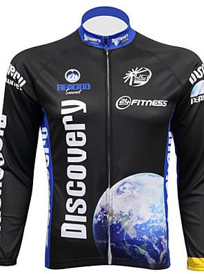 REALTOO® Camisa para Ciclismo Homens Manga Comprida Moto Respirável / Resistente Raios Ultravioleta Camisa/Fietsshirt / Blusas Elastano