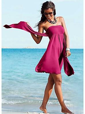 ללא ברזל/חזיות מרופדות - רצועות בד - אישה - כיסוי לחוף ( פוליאסטר )