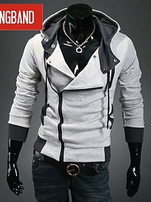 Egyszínű Férfi Activewear szettek , Hosszú ujjú , Casual/Sport/Molett méret , Pamut keverék