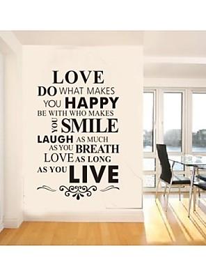 אנו קיר ציטוט קישוט קיר אמנות בית מדבקות משפחת zooyoo8083 מדבקות קיר ויניל הנשלף DIY