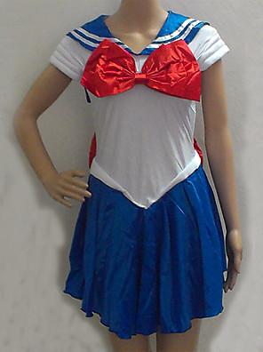 sailor moon blauw en wit spandex matroos uniform (one size)