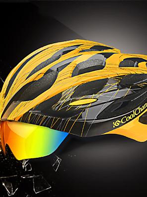 קסדה - יוניסקס - הר/כביש/ספורט - רכיבה על אופניים/רכיבה על אופני הרים/רכיבה בכביש/רכיבת פנאי ( כמו בתמונה , PC/EPS ) 25 פתחי אוורור