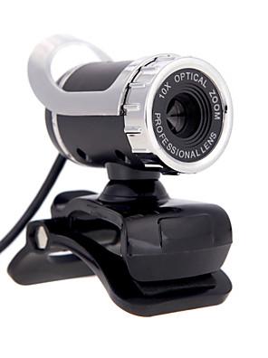 OEM - A859 - 10,0+ - 640 x 480 - Beépített mikrofon/HD Videó hívás/Hajlítható/Skype - Újdonság - Webcam