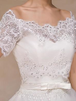 Wedding  Wraps Boleros Short Sleeve Lace Ivory Bolero Shrug