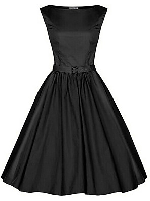 Women's Vintage 1950's Prom Retro Rockabilly Hepburn Pinup Cos Party Swing Dress