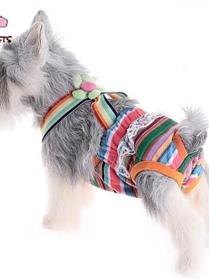 Gatos / Cães Calças Rosa Roupas para Cães Verão Riscas Casamento / Fantasias