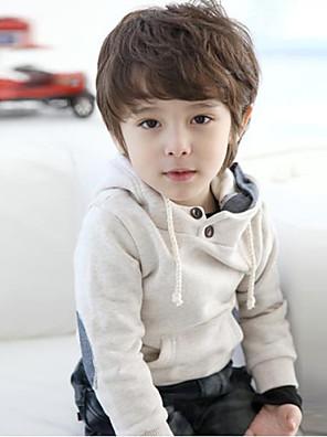 Boy's Cotton/Polyester British Style Leisure Simple Long Sleeve Hoodie & Sweatshirt