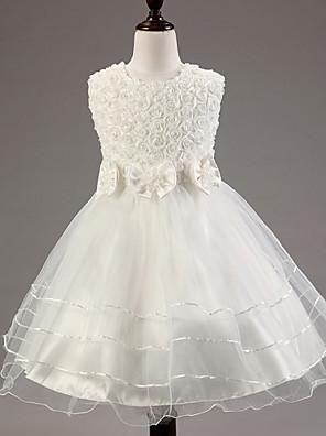 Dívka je Květinový Léto Šaty Směs bavlny Růžová / Červená / Bílá