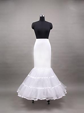 תחתונית  בת ים וסליפ שמלת חצוצרה אורך עד לרצפה 3 פוליאסטר לבן