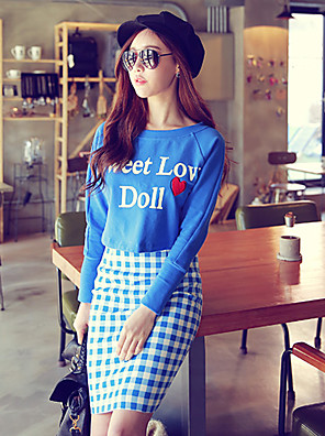 Pink Doll®Women's Casual/Bodycon Check Pattern Belt Included Skirts