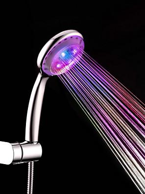 Kortárs Kézi zuhanyzó Króm Funkció for  LED / Zápor , Zuhanyfej