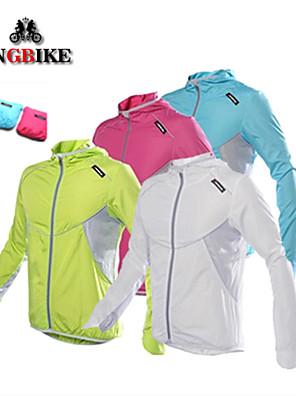 KINGBIKE® Jaqueta para Ciclismo Mulheres / Homens / Crianças / Unissexo Manga Comprida MotoRespirável / Secagem Rápida / A Prova de Vento