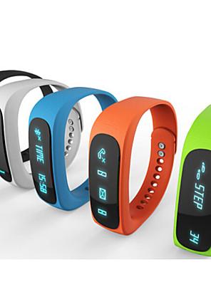 E02 sport bluetooth armbånd smarte ur sunde armbånd tid / opkalds-id / alarm / skridttæller sleep-skærm til iOS android