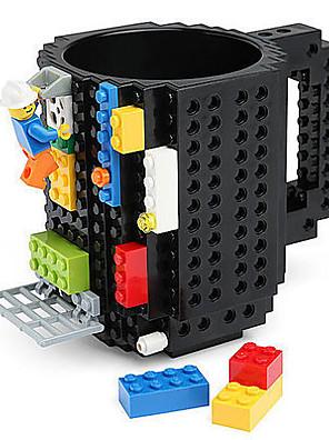 blokke krus bygge på mursten blok kaffe te drik krus cup kreative sjove krus coofee cup