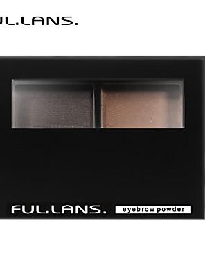 fullilans. bløde stereo øjenbryn pulver. fint pulver farven er ren. 2 farve. f-0015 3,8 g