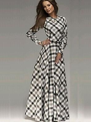 שמלה - מקסי - כותנה - קז'ואל - לא כולל חגורה