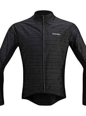 SANTIC® Cyklo bunda Pánské Dlouhé rukávy Jezdit na koleVoděodolný / Prodyšné / Větruvzdorné / Odolný vůči UV záření / Odolné vůči dešti /