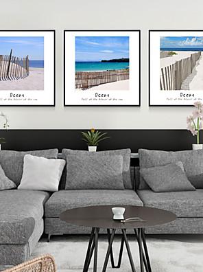 Abstrakt / Landskab / Blomstret/Botanisk / Stilleben / Arkitektur Indrammet Sæt Wall Art,Polystyrene Sort Måtte Inkluderet med FrameWall