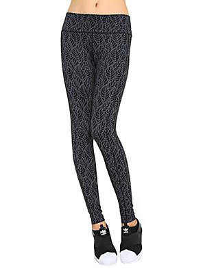 sexy ženy jóga kalhoty Punčocháče Quick Dry / limity bakterií / komprese / odlehčené materiály šedý jógu