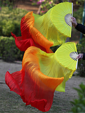 Dança do Ventre Acesssórios de Palco Mulheres / Unisexo Actuação / Treino Seda elástica-tipo Cetim Camadas Tingidas 2 Peças VaraAround