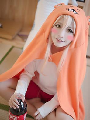 Inspirado por Himouto Fantasias Anime Fantasias de Cosplay Hoodies cosplay Cor Única / Estampado Laranja Manga Comprida Capa