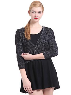 dámská casual / práce dlouhý rukáv svetr, pletené zboží medium