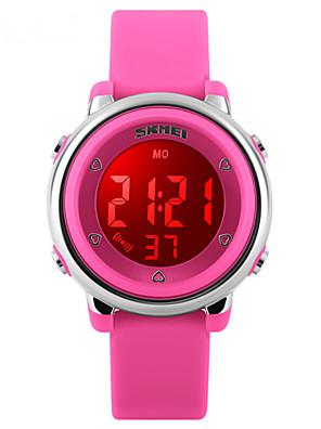 Gyerekek Sportos óra Digitális LED / Hőmérő / Naptár / Vízálló / Két időzóna / riasztás / Sportos óra Gumi ZenekarFekete / Fehér / Kék /