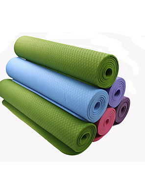 TPE Yoga Mats 183*61*0.8 Non Toxic 8.0 Blauw / Groen / Orange / Paars / Donker Paars #