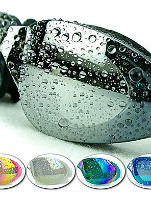 Made In China svømmebriller Dame / Herre / Unisex Anti-Tåge / Vandtæt / Justerbar Størrelse / Anti-UV Plastik Akryl Sort / Blå / Lyserød