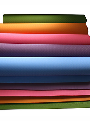 TPE Yoga Mats 183*80*1 Non Toxic 10 Rood / Blauw / Groen / Donker Paars #