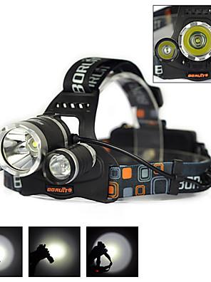 Osvětlení Světlometů popruhy LED 6000 Lumenů 1 Režim Cree XM-L T6 18650 DobíjecíKempování a turistika / Cyklistika / Lov / Rybaření /