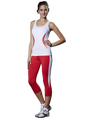 Corrida 3/4 calças justas / Conjuntos de Roupas/Ternos / Fundos Mulheres Sem MangasAlta Respirabilidade (>15,001g) / Compressão / Redutor