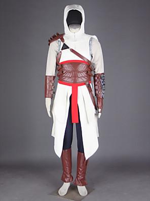 קיבל השראה מ Assassin's Creed Altair וִידֵאוֹ מִשְׂחָק תחפושות קוספליי חליפות קוספליי טלאים לבןגלימה / חולצת טי / מכנסיים / כובע / מיגון