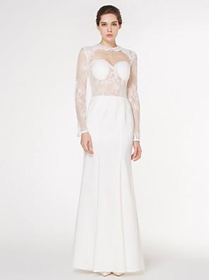 Lanting Bride Trumpet/Mermaid Wedding Dress-Floor-length Jewel Lace / Charmeuse
