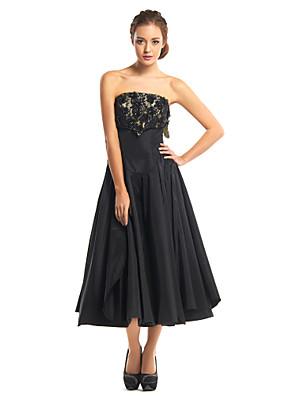 칵테일 파티 couture® TS는 레이스와 라인 끈이없는 차 - 길이 레이스 / 태 피터 드레스