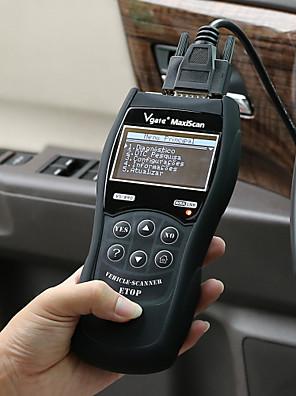 vs890 flere sprog bil kodelæser auto diagnostisk scanner - sort