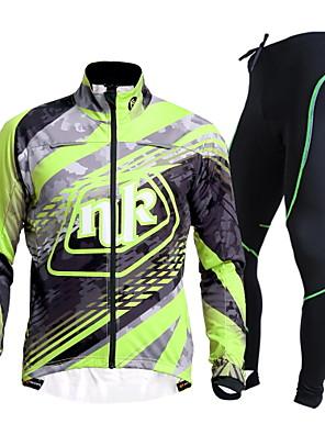 NUCKILY Moto/Ciclismo Camisa + Calças / Conjuntos de Roupas/Ternos Mulheres / Unissexo Manga CompridaImpermeável / Respirável / Isolado /