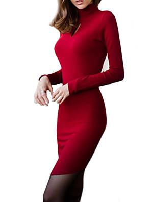 צוואר גבוה שרוול הארוך לנשים להתלבש
