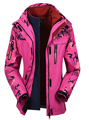 Trilha Blusas Mulheres Impermeável / Á Prova-de-Chuva / Capa Destacável Inverno Vermelho / Azul Céu / Verde MilitarM / L / XL / XXL /