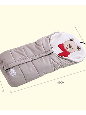 Multifunctional Coral Velvet Baby Infant Autumn Winter Stroller Bag Newborn Sleeping Bag Wrap