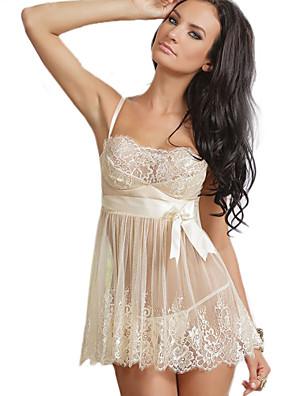 Best Designed Mini dress See Through Erotic Suit 2015 Hot Sale White Lace Sexy Lingerie China Plus Size Chemise de Nuit