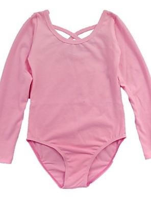 """בלט בגדי גוף בגדי ריקוד ילדים אימון כותנה שתי וערב חלק 1 שרוול ארוך LeotardL:44 cm/17.3"""",XL: 47 cm/18.5"""",XXL: 51 cm/20.0"""",3XL: 54"""